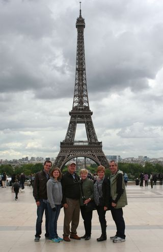 Dixe George Mays at Eiffel Tower
